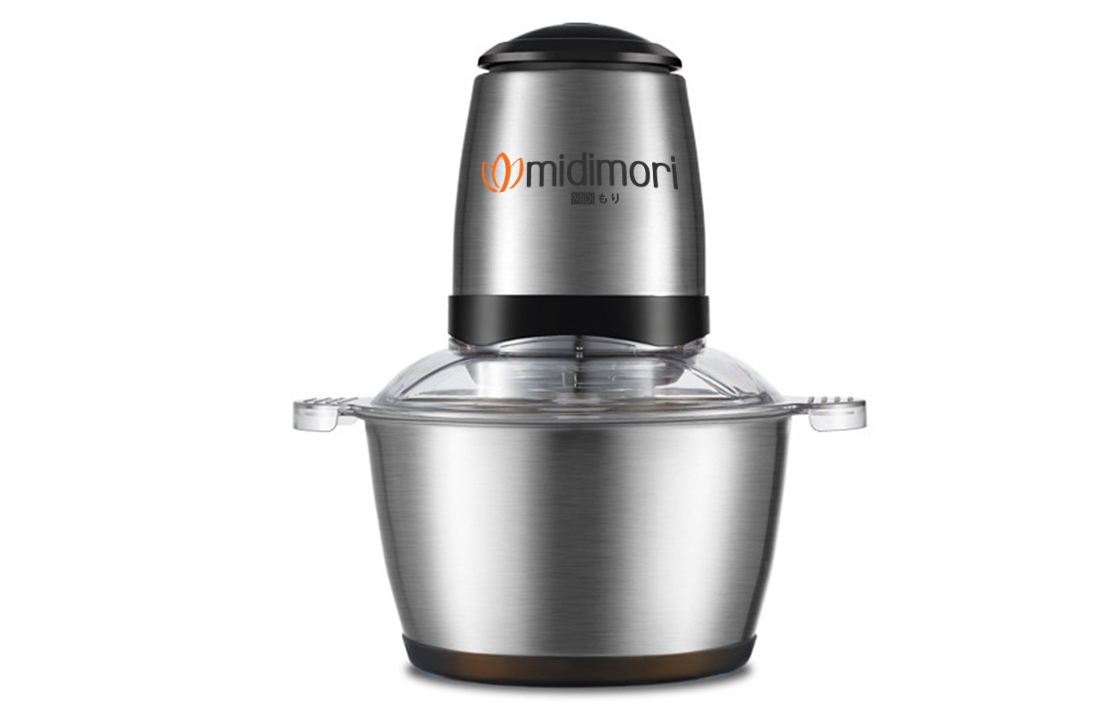 Midimori 2 speeds 1.2/2.0L Glass Bowl Vegetable and Meat Chopper