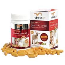 Viên uống nhau thai cừu Rebirth Life Platinum Placenta Youth 60 capsules