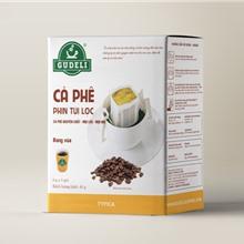 CAFE PHIN TÚI LỌC TYPICA 5 GÓI - DRIP BAG COFFEE GUDELI ®
